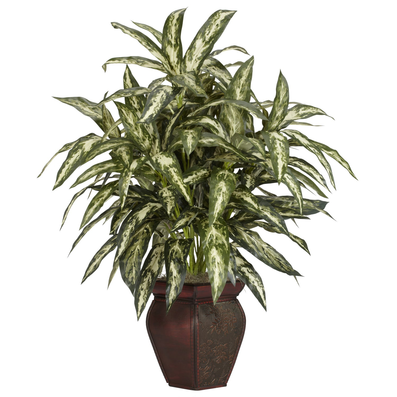 Aglaonema with Decortaive Vase Silk Plant