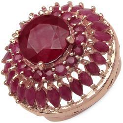 Malaika 8.30ctw 14K Rose Gold Overlay Silver Ruby Ring