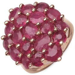 Malaika 7.70ctw 14K Rose Gold Overlay Silver Ruby Ring