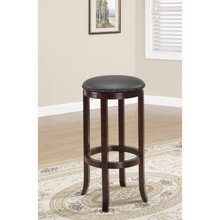 Lewisville 24-inch English Tudor Swivel Counter Stool