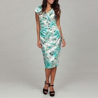London Times Women's Shimmering Floral Dress