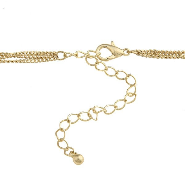 Kate Bissett Goldtone Three-Strand Charm Necklace