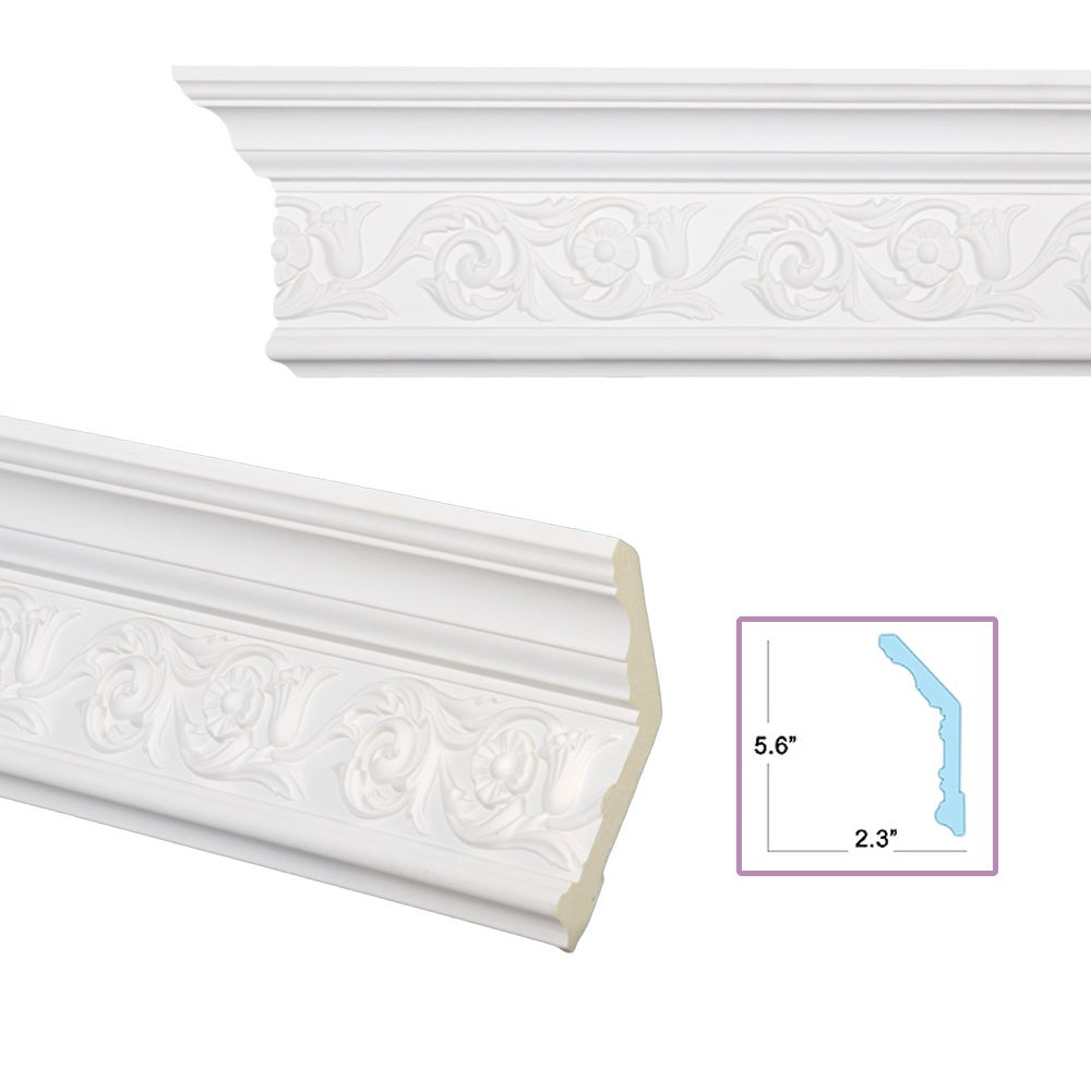 Scrolling foliage 6 inch crown molding 13910403 for 9 inch crown molding