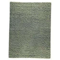 Hand-woven Smix Green Wool Rug (3' x 5'4)