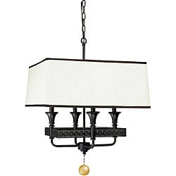 Manhattan Collection 4-light Oiled Bronze Finish Pendant
