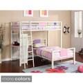 Furniture of America YoYo Twin/ Twin Loft Bunk Bed w/ 2 Twin Size Mattresses