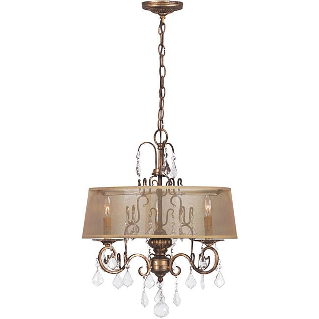 World Imports Belle Marie Collection 3-light Hanging Chandelier