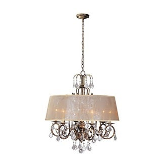 World Imports Belle Marie Collection 6-light Hanging Chandelier