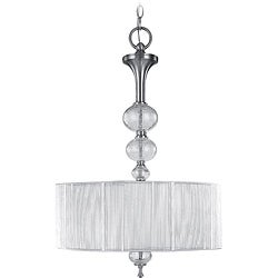 World Imports Bayonne Collection 3-light Hanging Inverted Pendant