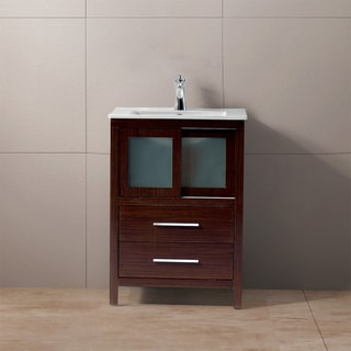 Vigo 24-Inch Alessandro Single Bathroom Vanity with Two Drawers