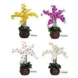 Phalaenopsis with Decorative Vase Polyester Flower Arrangement