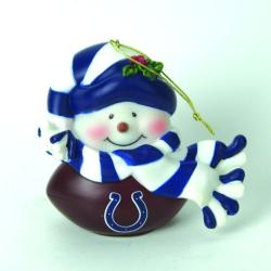 Indianapolis Colts Musical Snowman Ornament