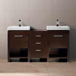 Vigo 59-inch Adonia Freestanding Double Bathroom Vanity