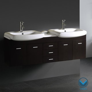 Vigo 59-inch Double Bathroom Vanity