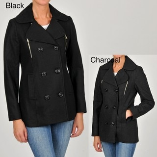 Esprit Women's Double-breasted Wool-blend Pea Coat