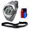 Ovente BHS8000 Heart Rate Monitor with Chest Strap (Beatech Collection) and Aluminum Camping Bottle Set