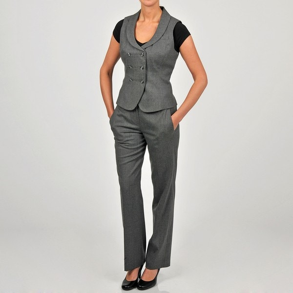 Heather Vest Pant Suit