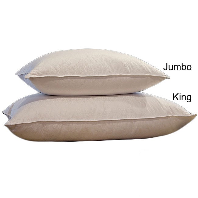 Overstock.com Jacquard 500 Thread Count Natural Down and Feather Pillow