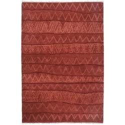 Nepalese Ric Rac Wool Rug (8 x 10)