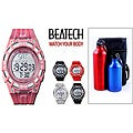 Beatech Multi-function Timer Watch with Aluminum Camping Bottle Set