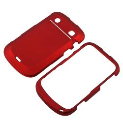 Red Rubber-coated Case for Blackberry Bold 9900/ 9930