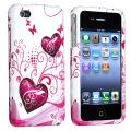 Pink Heart Case for Apple iPhone 4