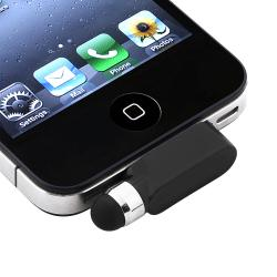 Black Stylus with Dust Cap for Apple iPhone/ iPod Touch/ iPad