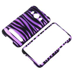 Purple Black Zebra Protective Case for HTC EVO 4G Supersonic