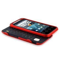 INSTEN Red Rubber-coated Phone Case Cover for HTC EVO Shift 4G