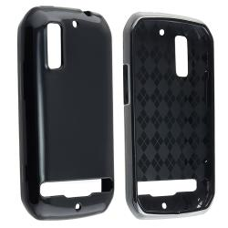 Black TPU Rubber Skin Case for Motorola Photon 4G MB855