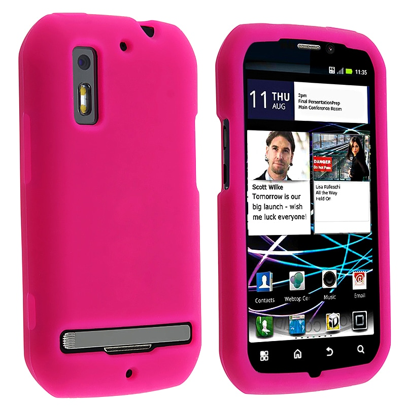 Hot Pink Silicone Skin Case for Motorola Photon 4G MB855