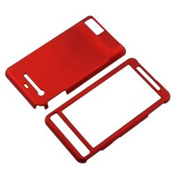 Red Rubber-coated Case for Motorola Droid X MB810