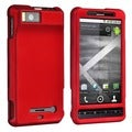 Red Rubber-coated Case for Motorola Droid X MB810/ Droid X2 Daytona