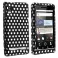 Polka Dot Rubber-coated Case for Motorola Droid 2 A955