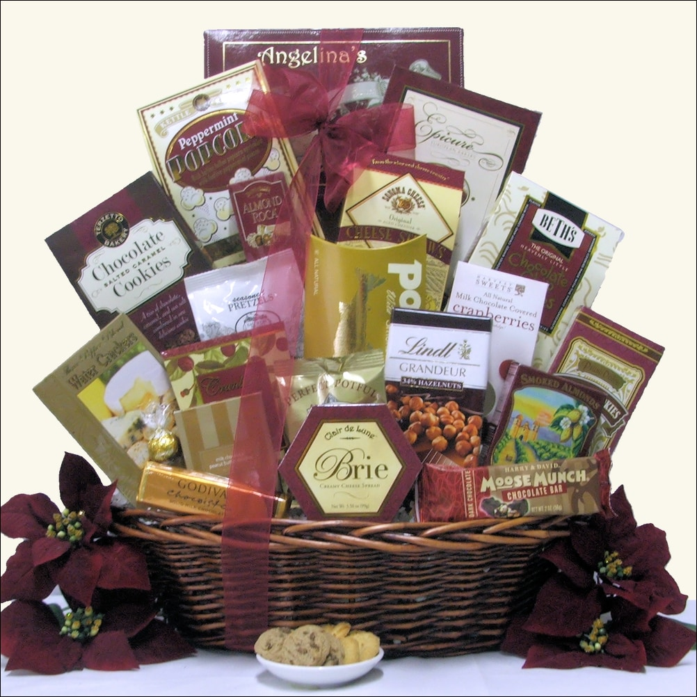 Buy holiday gourmet gift baskets - Holiday Finer Things Holiday Gourmet Gift Basket