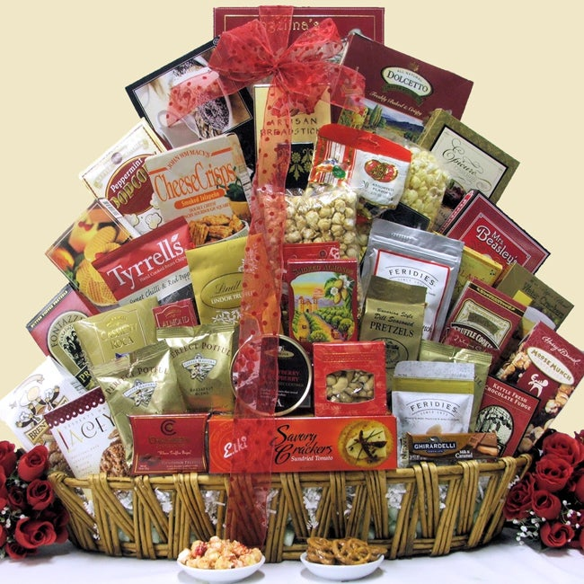 Magnificent Holiday Munchies Christmas Gourmet Gift Basket