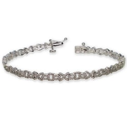 Auriya 10k White Gold 1ct TDW Diamond Bracelet (H-I, I1-I2)