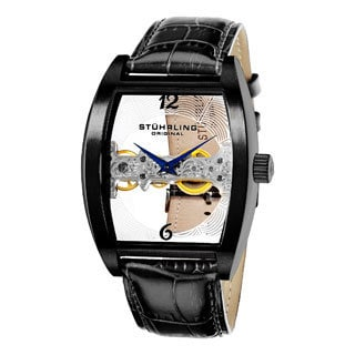 Stuhrling Original Men's Millennia Ravine Stainless-Steel Mechanical Watch