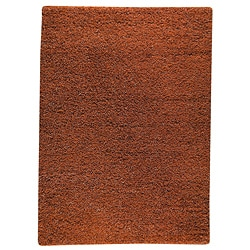 Hand-woven Smix Orange Wool Rug (3' x 5'4)