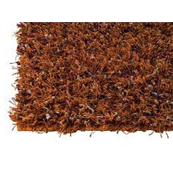 Hand-woven Smix Orange Wool Rug (5'6 x 7'10)