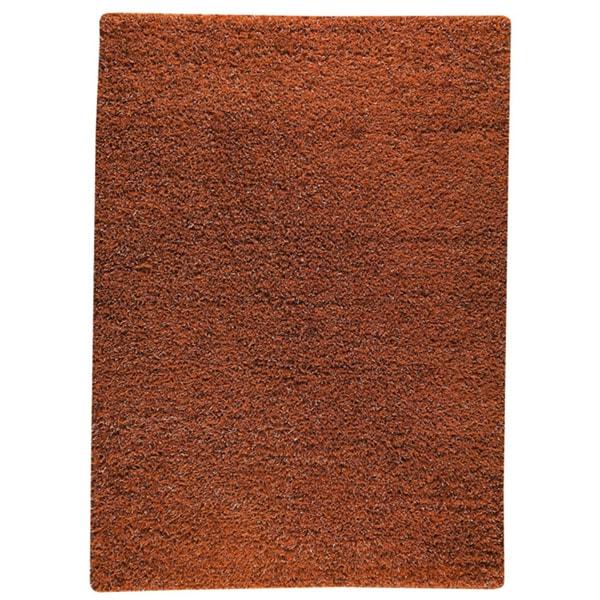M.A.Trading Hand-woven Shanghai Mix Orange Wool Rug (5'6 x 7'10)