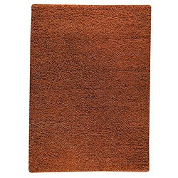Hand-woven Smix Orange Wool Rug (4'6 x 6'6)
