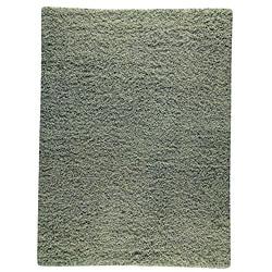 Hand-woven Smix Green Wool Rug (4'6 x 6'6)