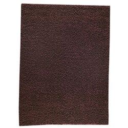 Hand-woven Smix Brown Wool Rug (4'6 x 6'6)
