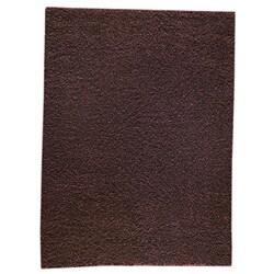 Hand-woven Smix Brown Wool Rug (5'6 x 7'10)