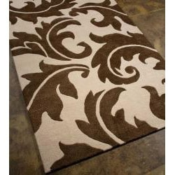 Hand-tufted Bellona Wool Rug (8' x 11')