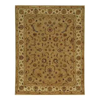 Hand-tufted Sand/ Gold Wool Rug (8' x 11')