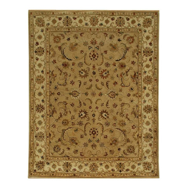 Hand-tufted Sand/ Gold Wool Rug (5' x 8')