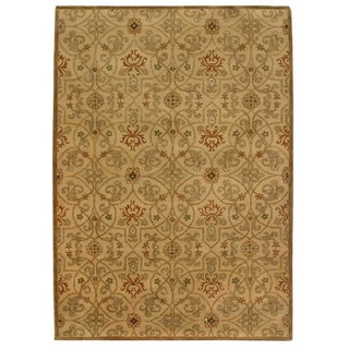 Orosius Hand-tufted Gold/ Brown Wool Rug (5' x 8')
