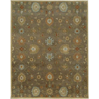 Hand-Tufted Gray/Brown Wool Area Rug (8' x 11')